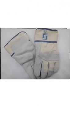 Перчатки спилковые меховые