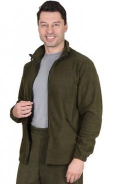 Куртка флисовая оливковая