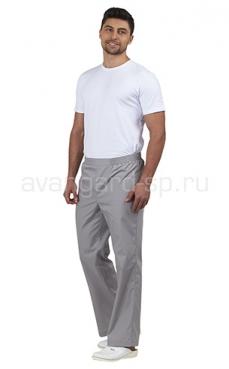 Брюки медицинские мужские Эскулап (светло-серый)