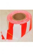 Лента оградительная красно-белая 250/75мм