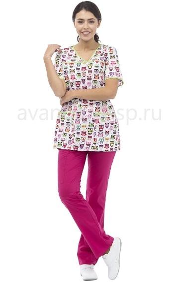 Блуза женская LF2112 Совушки