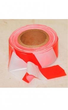 Лента оградительная красно-белая 200/50мм