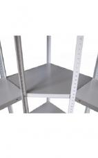 Полка угловая для стеллажа 50*70 см