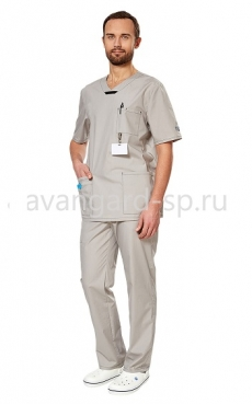 Комплект Аура мужской серый