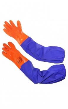 Перчатки Рыбак Лонг-SP с ПВХ нарукавниками р.10 (XL)