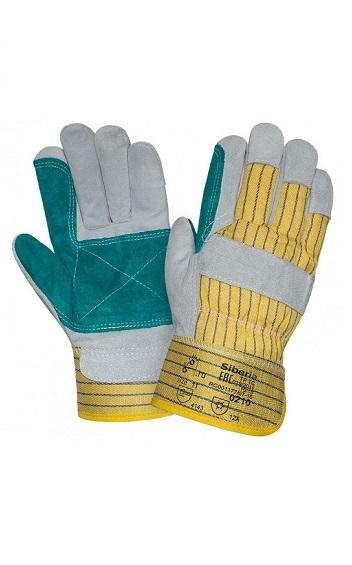 Перчатки спилковые с двойным наладонником
