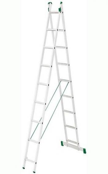Лестница универсальная 2-х секционная 2х13 ступеней Alve 7513