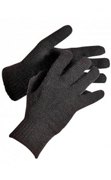 Перчатки флисовы черные